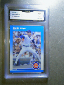 JAMIE-MOYER-1987-Fleer-570-Vintage-RC-Rookie-Graded-Card-GMA-9-MINT-CHI-CUBS