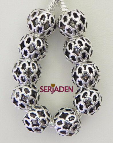 10 Chaîne Lien poids léger Entretoises Fits European Charm Bracelet//colliers S047
