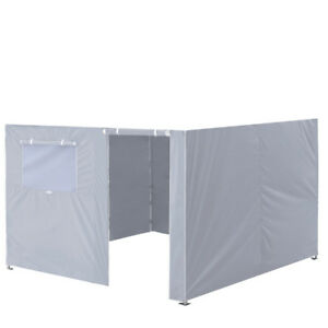 10x10 Gray Zipper Side Walls Panel For Pop Up Canopy