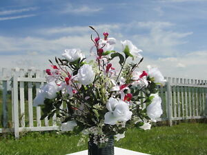 Mother sister urn headstone grave silk flowers japanese pink orchids image is loading mother sister urn headstone grave silk flowers japanese mightylinksfo