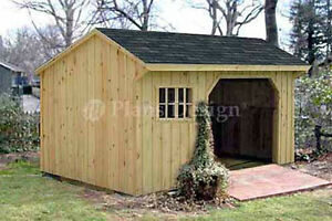 8 X 10 Firewood Storage Shed Plans Material List Included 70810