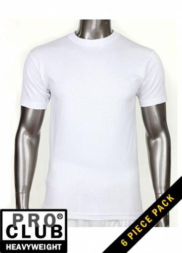 PRO CLUB-HEAVYWEIGHT-T-Shirts Mens-Plain-Blank-Top-Wholesale Small-10XL 6pc Lot