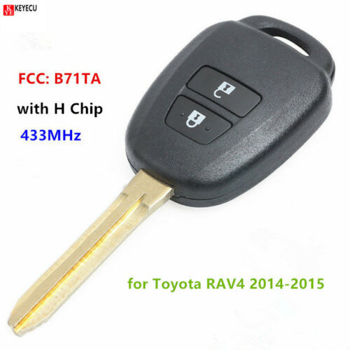 433MHz H Chip Replacement Remote Car Key Fob for 2014-2015 Toyota RAV4 B71TA