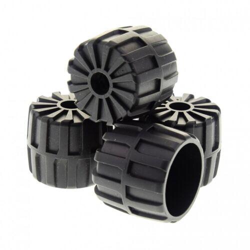 4x Lego Hard Plastic Wheel Black 35x31 M-TRON Blacktron 6896 6851 2593
