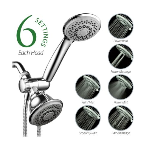 AquaStorm by HotelSpa 30-Setting SpiralFlo 3-Way HIGH PRESSURE Luxury Shower ...