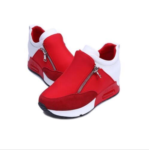 Women/'s Hiddedn Wedge Heel Platform Sneakers Shoes Casual Fashion Sport Creepers