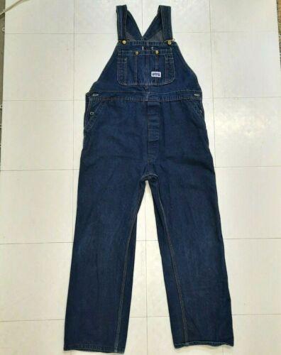 90s Big Smith denim overalls mens 38x30 USA made mechanic farmer outfit 38 30 blue workwear work wear