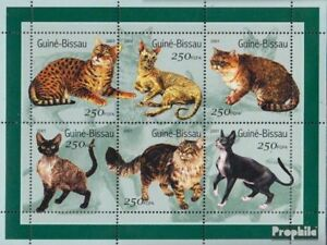 Never Hinged 2001 Cats Durable Service Guinea-bissau 1522-1527 Sheetlet Unmounted Mint Guinea-bissau