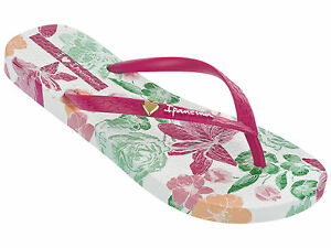 9fd17cfb20fe2f Das Bild wird geladen IPANEMA-Zehentrenner-Thongs-Badeschuhe-PARAISO-FEM- weiss-pink-