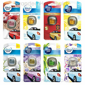 Febreze Ambi Pur Car Air Freshener Vent Clip On You Choose