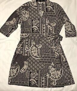 LIZ CLAIBORNE Women\'s Plus Size 3/4 Sleeve Faux Wrap Dress ...