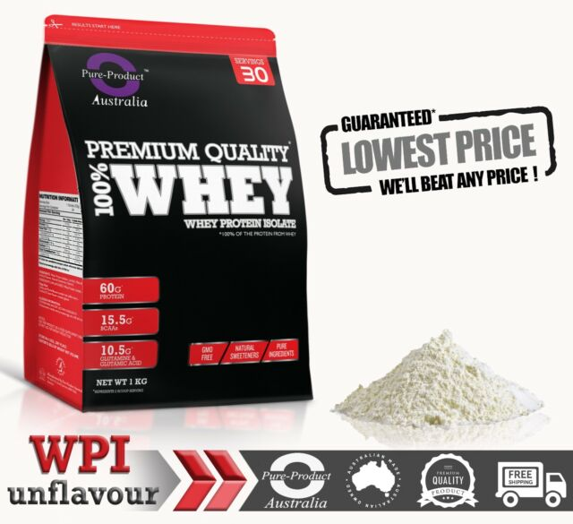 5KG 100% NZ WHEY PROTEIN ISOLATE UNFLAVOURED - GRASS-FED NZ   WPI  5 x  1KG