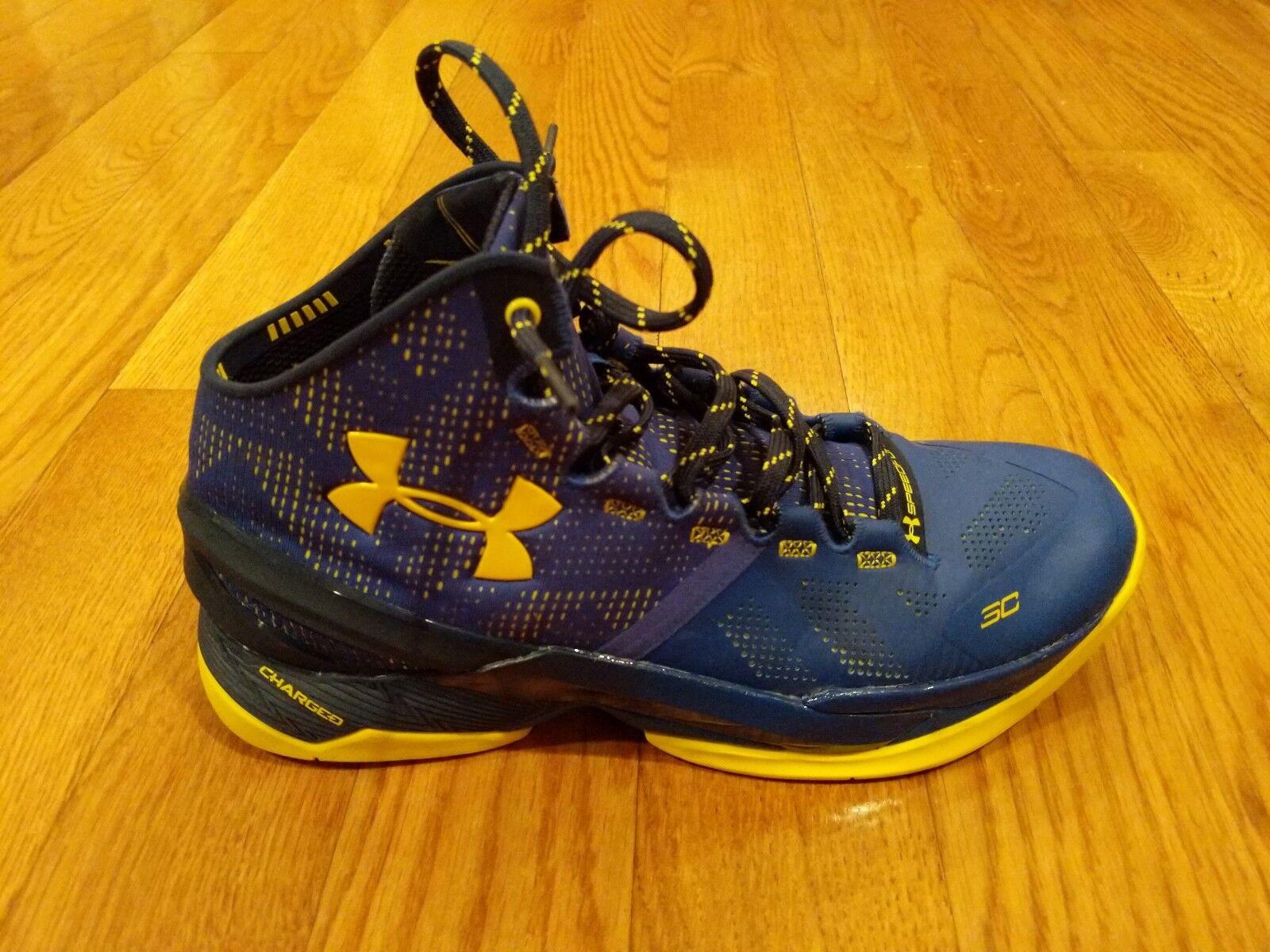 Stephen Curry zapatos ; Azul Amarillo