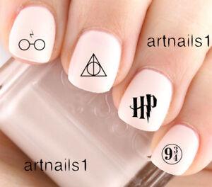 Harry-Potter-Nail-Art-Water-Decals-Stickers-Manicure-Salon-Mani-Polish-HP-Gift