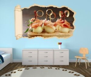 3D Adesivo Murale Mediterraneo Melone Essen Cucina Carta Parati ...