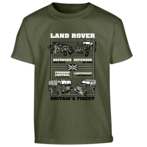 Jungen Britische Armee T-Shirt Land Rover Fahrzeug 100/% Baumwolltop 5-6 7-8 9-10
