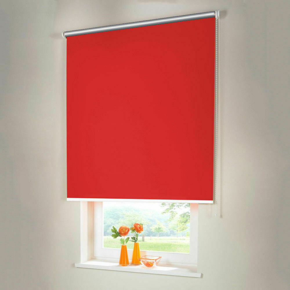 Persiana para oscurecer Thermo seitenzug kettenzug persiana-altura 220 cm rojo