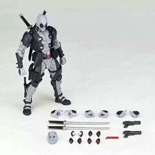 Marvel Legends  Grey DEADPOOL Action Figure Revoltech Kaiyodo Version Toy NO BOX