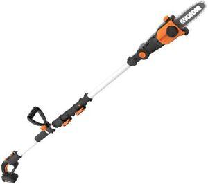 "WORX WG349 20V PowerShare 8"" Cordless Pole Saw & Chainsaw with 13"" Reach"