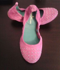 Size Suede New Ballet Cole Pink 4 Haan Flats wffYBqz