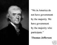 """President Thomas Jefferson """" we in America..."""" Quote 8 x 10 Photo Picture #bwh2"""