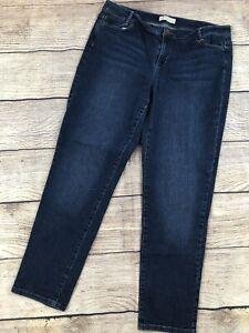 Womens-14-J-Jill-Slim-Boyfriend-Denim-Jeans-Blue-Pants