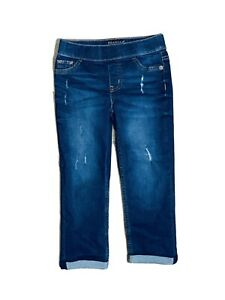 Girls Justice Jeans Size 8, Stressed Look. Great Condition.