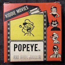 Vintage POPEYE Knife Juggler Kiddie Movies Super 8 8mm #PX6 Metro Films