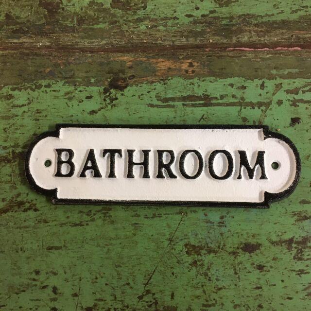 Vintage Antique Style Cast Iron Bathroom Ladies Womens Plaque Retro Sign
