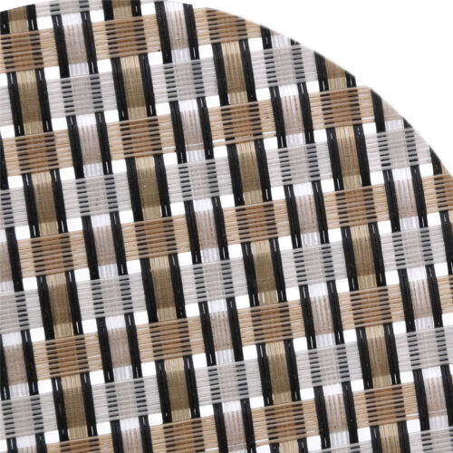 New Tea Coaster Kitchen Creative Round Plaid Woven Coaster Weaving Cup Mat ND