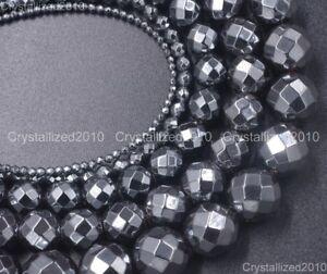 Black-Hematite-Gemstone-Faceted-Round-Beads-2mm-3mm-4mm-6mm-8mm-10mm-12mm-15-5-034