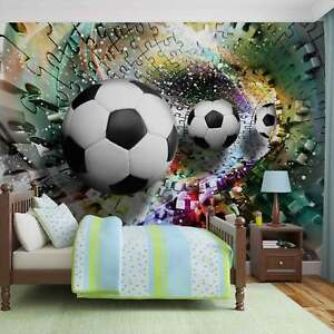 WALL MURAL PHOTO WALLPAPER XXL Colorful Puzzle Football 3381WS eBay