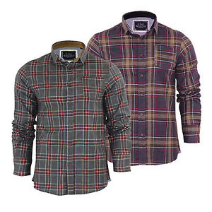 Mens-Check-Shirt-Brave-Soul-Edvard-Flannel-Brushed-Cotton-Long-Sleeve-Casual-Top