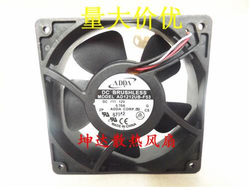 1PC About ADDA AD1212UB-F53 12V 0.70A cooling fan 120*38MM