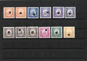 Liberia-Stamps-12-Revenue-Specimens