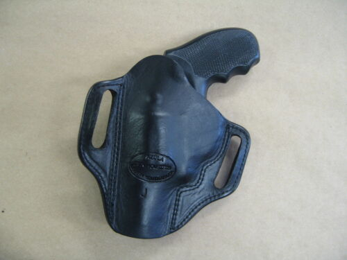 Taurus 85 605 805 Revolver Leather 2 Slot Pancake Belt Holster CCW BLACK RH
