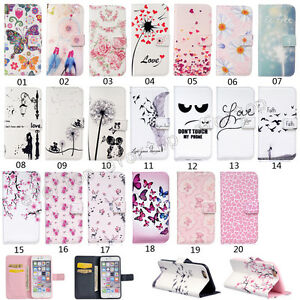 Flip-Patterned-PU-Leather-Wallet-Card-Slot-Stand-Case-Cover-Bumper-For-Lot-phone