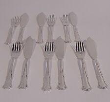 Wilkens August der Starke Fischbesteck 800 Silber 12teilig Gabel Messer