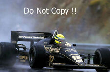 Ayrton Senna JPS Lotus 97T Winner Portugal Grand Prix 1985 Photograph 2