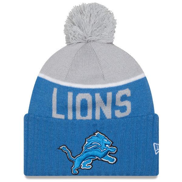 Detroit Lions Era 2015 NFL On-field Sport Knit Beanie Hat Winter Cap Blue  OSFM - 889352986879 for sale online  f23e5911e