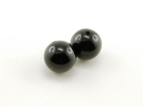 12 mm schwarz //1459s 2x Onyx Kugeln