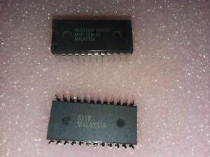 2x-MOSTEK-MK6116N-20-16K-200ns-CMOS-STATIC-RAM-5V-TTL-24-PIN-DIP