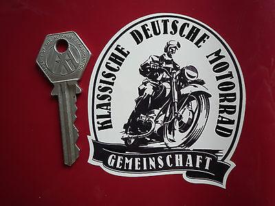 ADAC Yellow 100mm Classic Car Sticker German Automobile Club Historic Deutscher