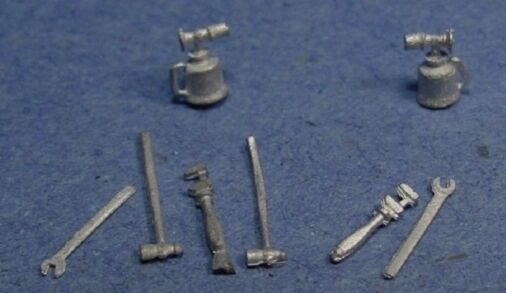 O/On3/On30 1/48 WISEMAN MODEL SERVICES DETAIL PARTS #O111 SMALL TOOL ASSORTMENT