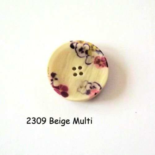 2b2309 Boutons ronds 2 trous Boutons Beige Boutons 28 mm Boutons