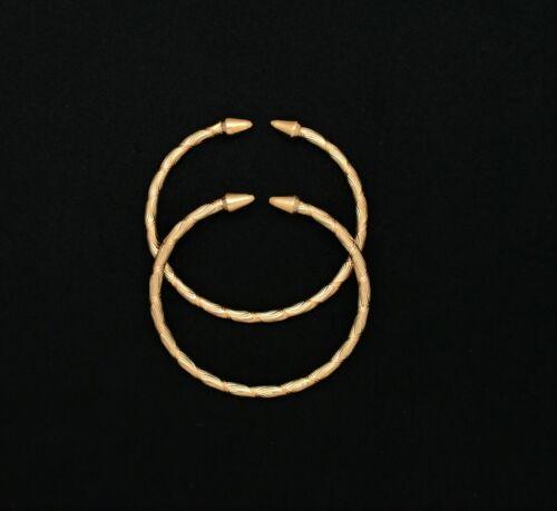 14K glacé Gold Filled Cone End West Indian Bracelets