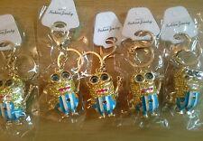 Wholesale joblot of GOLDEN 5 Menion keyrings chain crystal bling bag charm