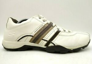 skechers lifestyle brand white leather casual lace up