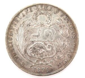 1870-PERU-9-DECIMOS-UN-SOL-SILVER-COIN