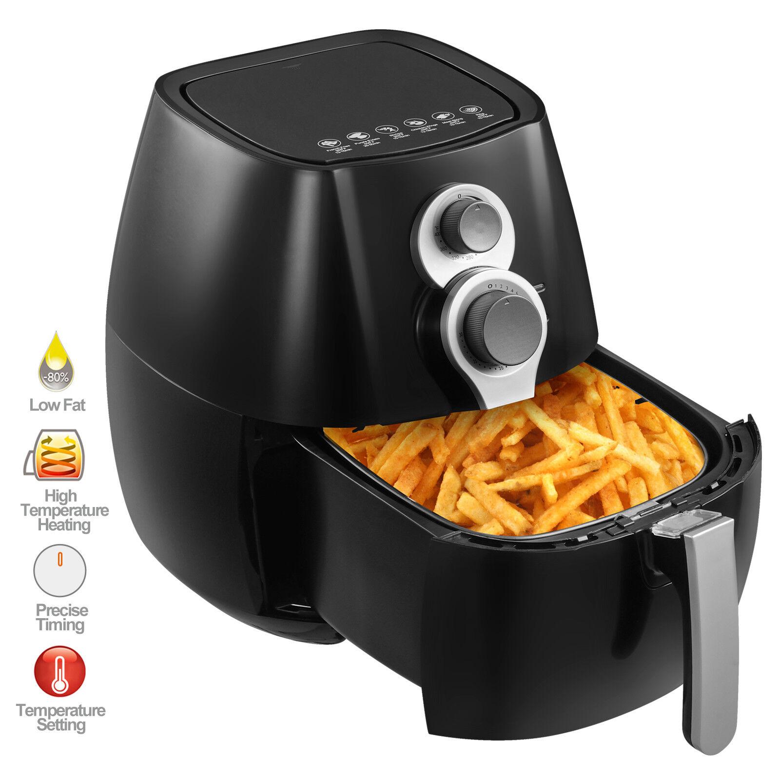 4.4QT Electric No Oil Air Fryer 6 Cooking Presets, Timer Temperature Control